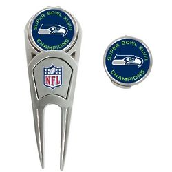 Seattle Seahawks Super Bowl XLVIII Champions Golf Divot Tool Set