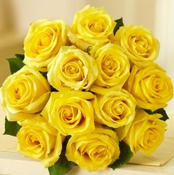 12 Stem Sunshine Rose Bouquet