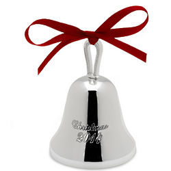 2014 Silver Plated Bell Ornament
