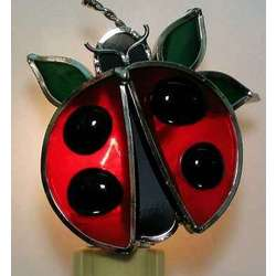 Stained Glass Ladybug Nightlight