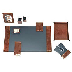 Luxury Leather Desktop Set