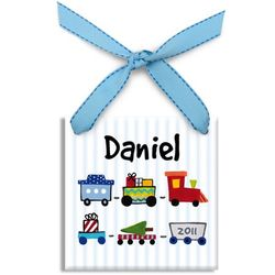 Personalized Toy Train Tile Ornament