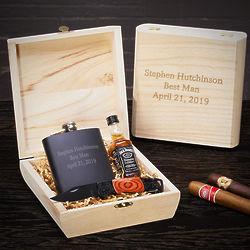 Personalized Best Man Barware Gift Box