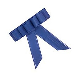 Blue Film Strip Bow