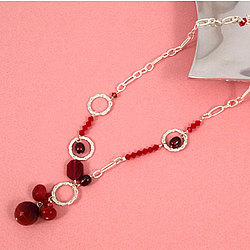 Sweet Ruby Crystal Necklace