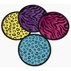 Neon Animal Print Flying Disks