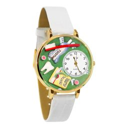Dental Assistant's Gold-Tone Watch
