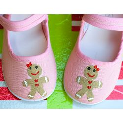 Ginger Bread Girls Christmas Shoes