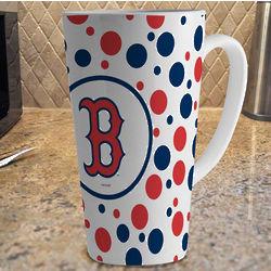 Boston Red Sox Polka Dot Latte Mug