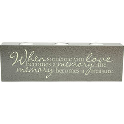 """""""When Someone You Love"""" Sympathy Tealight Candle"""