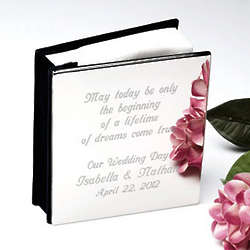 Personalized Simply Silver Photo Album