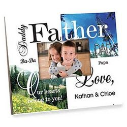 Personalized Colorful Father Frame with Multiple Children