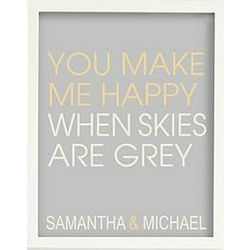 You Make Me Happy Art with White Frame