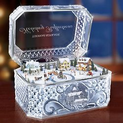 Thomas Kinkade Winter Village Crystal Music Box