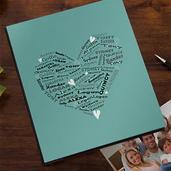 Her Heart of Love Personalized Deluxe Photo Album