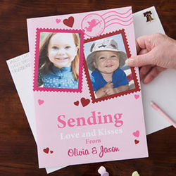 Personalized Two Photo Valentine's Day Card