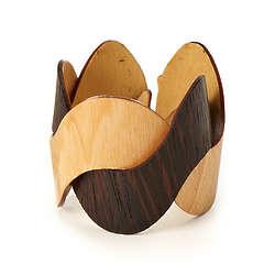 Woven Wooden Cuff Bracelet