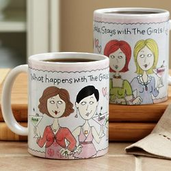 Personalized What Happens with the Girls 15 Ounce Mug