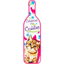 Cabernet and Cuddles Cat Wall Sign