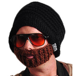 Acrylic Yarn Beard Hat