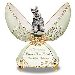 Faithful Friend Schnauzer Musical Egg