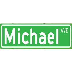 Personalized Metal Street Sign for Wall