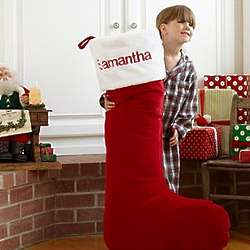 Personalized Giant Plush Stocking