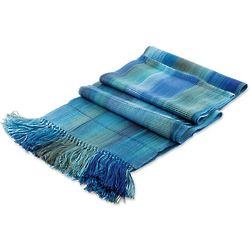 Smooth Breeze in Blue Rayon Scarf