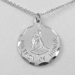 Engravable Matron of Honor Pendant