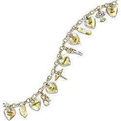 A Nurse's Heart Engraved Charm Bracelet