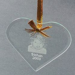 Beveled Glass Heart Shaped Ornament