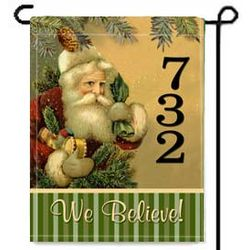 Personalized St. Nick 2 Sided Garden Flag