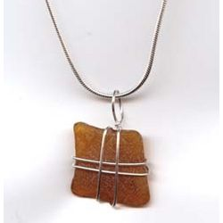 Sterling SeaGlass Necklace Drop