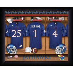 Kansas Jayhawks Football Personalized Locker Room Print