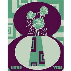 Personalized Love Flower Fine Art Print