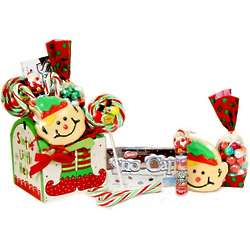 Santa's Little Helper Sweets Gift Set in Wooden Mailbox