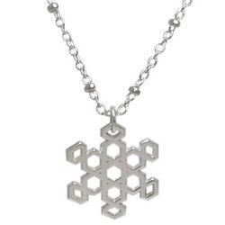 Filigree Silver Snowflake Pendant