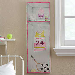 Girl's Personalized Sports Jersey Canvas Artwork