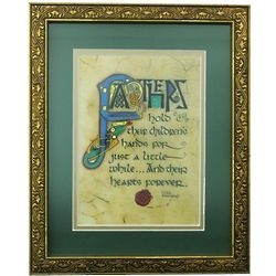 Irish Monastic Father's Blessing Framed Print