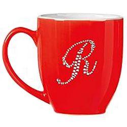 Personalized Jeweled Initial Bistro Mug