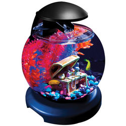 Blue LED Glofish Waterfall Globe Aquarium