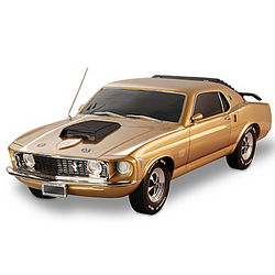 Gold-Plated Mustang Boss 429 Sculpture