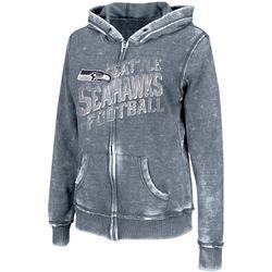 Seattle Seahawks Womens Sport Princess III Burnout Full Zip Hoodi