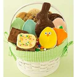 Easter Treats Green Gingham Basket