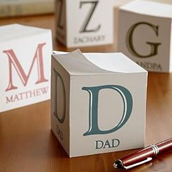Personalized Simple Initial and Name Paper Cube