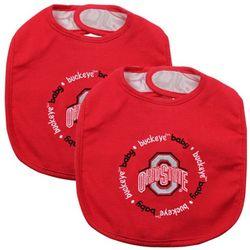 Ohio State Buckeyes 2-Pack Baby Bibs
