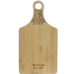Personalized Bless Us O Lord Cutting Board