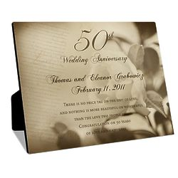 50th Wedding Anniversary Custom Photo Panel with Easel