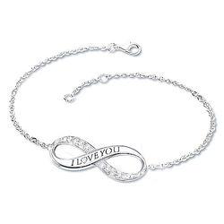 Infinite Love Diamond Engraved Bracelet for Daughters