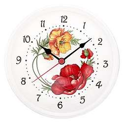 Poppy Ceramic Wall Clock